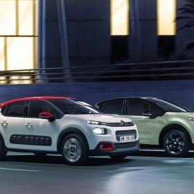 Två stycken Citroën C3 2017